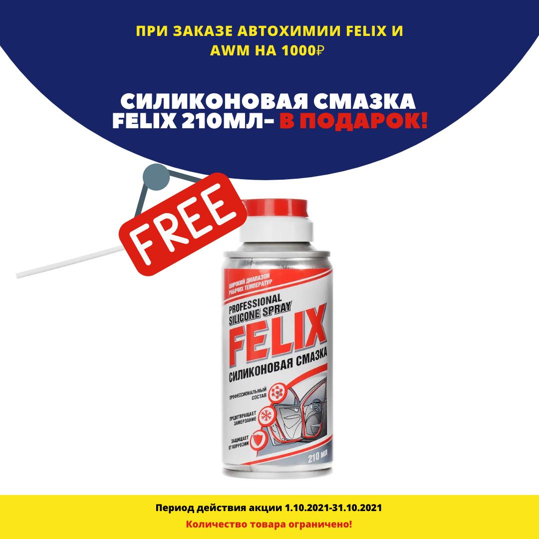 Подарок за покупку автохимии AWM и FELIX №1